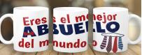 Tazas personalizadas por subimación de Abuelos