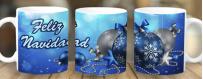 Tazas personalizadas por subimación de Navidad